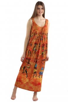 Длинный оранжевый сарафан  Bast