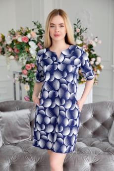 Синяя хлопковая туника Lika Dress