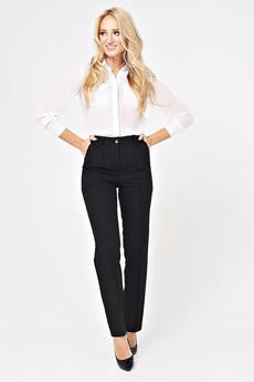 Женские черные брюки прямого кроя Angela Ricci со скидкой