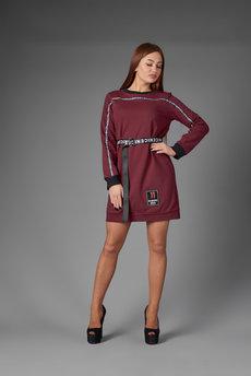 Трикотажное платье в спортивном стиле Трикотажница со скидкой